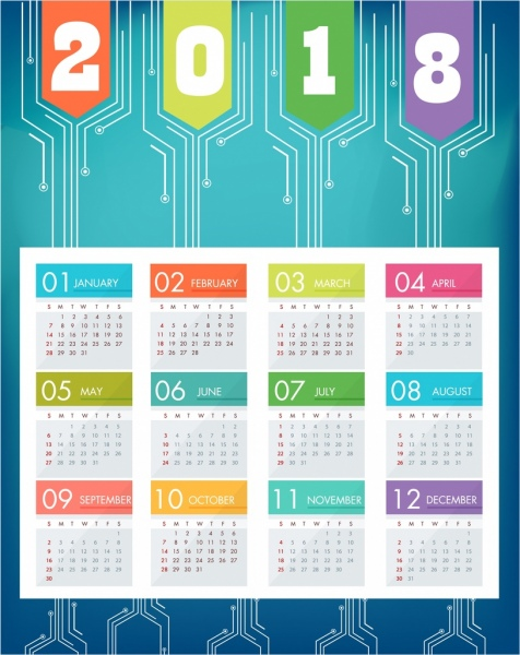 2018_calendar_background_blue_modern_decor_technology_style_6829901 2